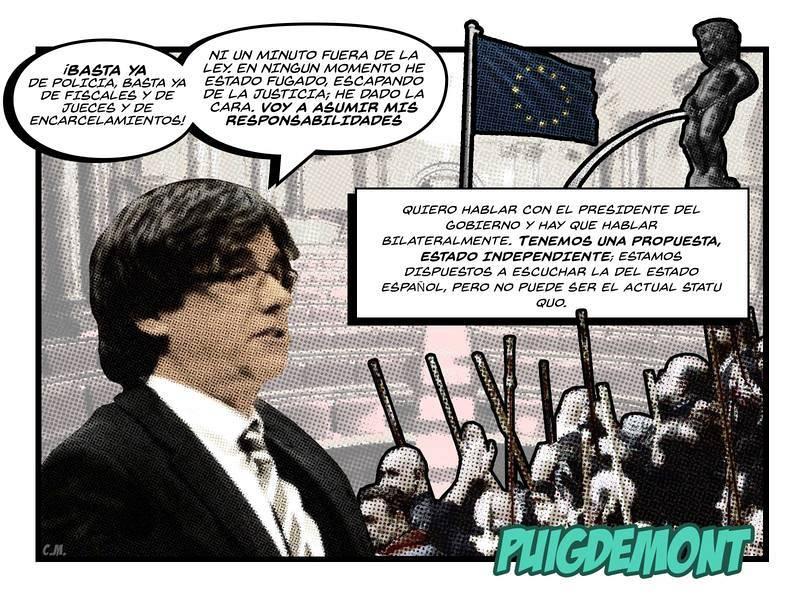 El cómic del 21-D | Puigdemont, desde Bruselas