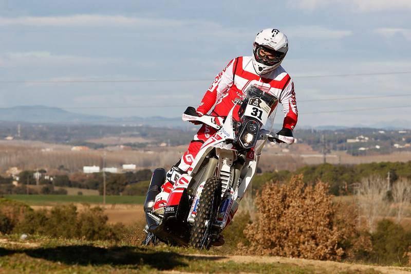 Imagen de una de las tres motos del 'Gas Gas Rally Team'.