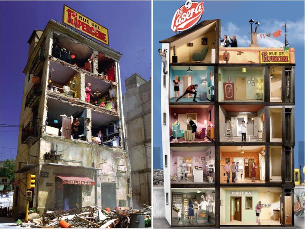 13, rue del percebe versionada por Javier Fesser en 'La gran aventura de Mortadelo y Filemón' y el anuncio de una marca de gaseosas