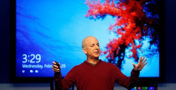 Steven Sinofsky durante la presentación del nuevo Windows 8 en el MWC