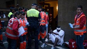 El último encierro de San Fermín 2012 ha dejado cuatro contusionados