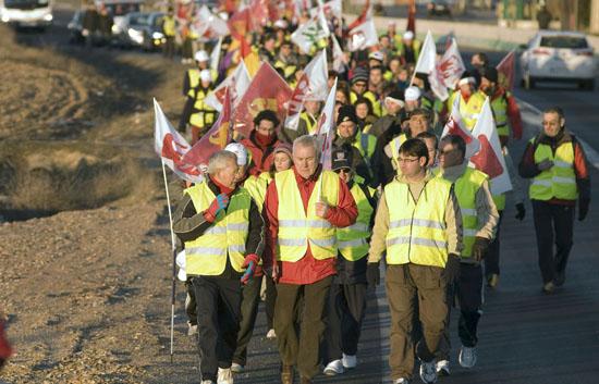 40 kilómetros a pie para luchar contra la corrupción