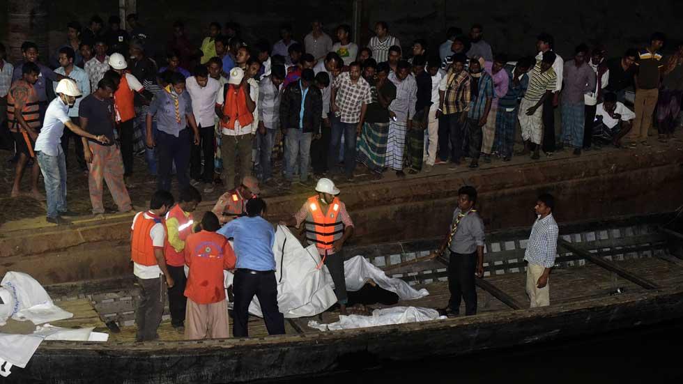Mueren 40 personas en un accidente marítimo en Bangladesh