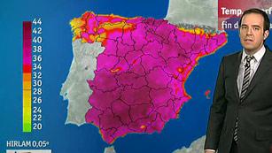 42 provincias en alerta este sábado por temperaturas de hasta 40 grados