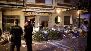 Medio centenar de heridos tras una explosión en la feria de Vélez-Málaga