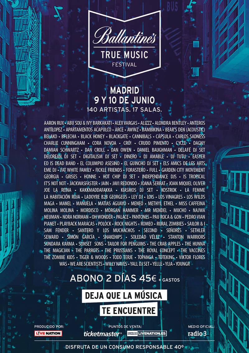 9 y 10 de junio, 17 salas del centro de Madrid acogen el True Music Festival
