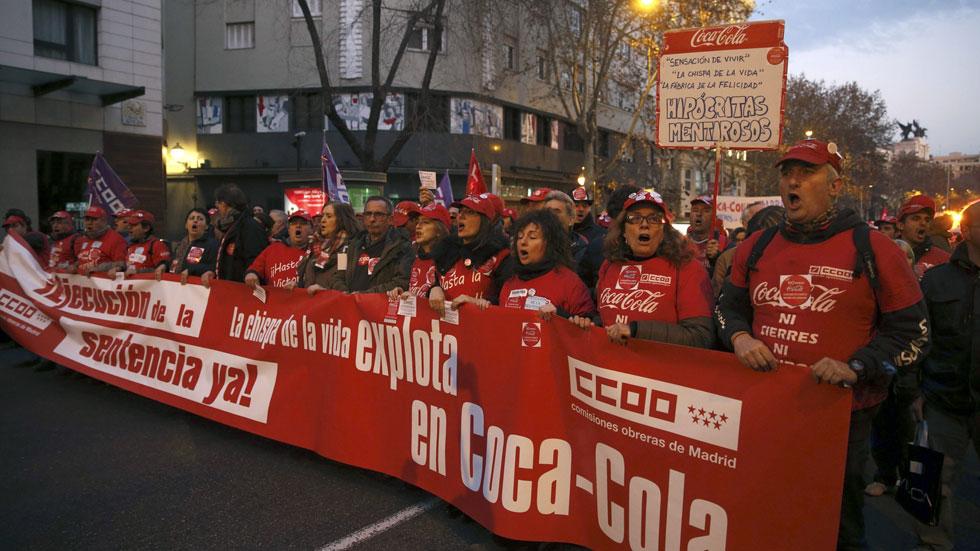 Este viernes acaba el plazo que Coca-Cola dio a los empleados despedidos para que se reincorporen al trabajo