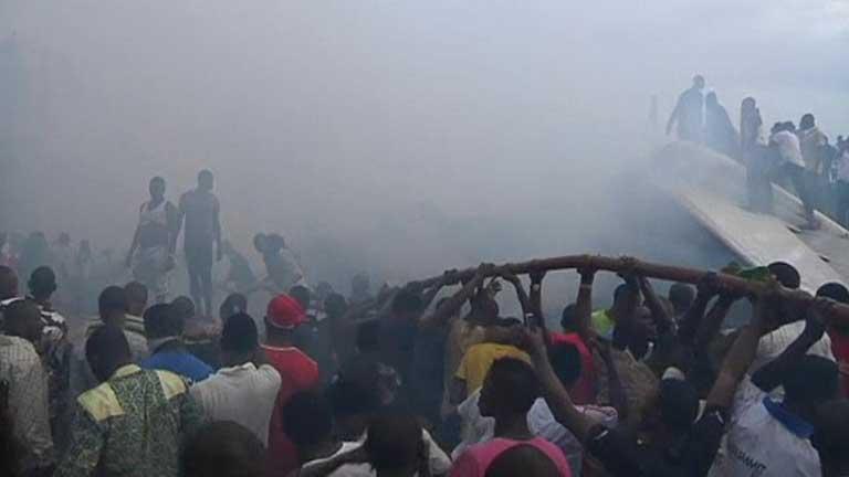 Accidente aéreo en Lagos, la mayor ciudad de Nigeria