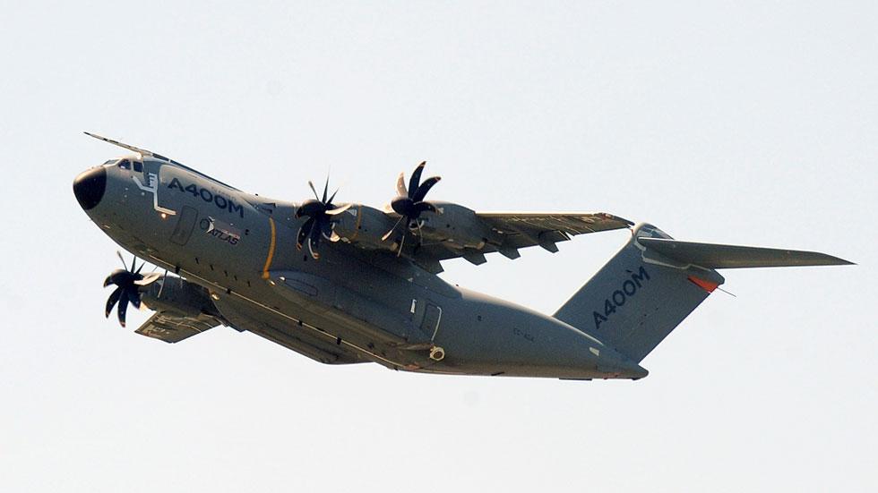 Airbus pide a los países que usan el A400M que comprueben el sistema de control de motores
