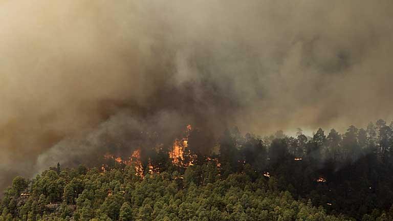 El fuego obliga a dasalojar a los vecinos de la localidad tinerferña de Chirche