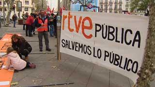 Acto en defensa de RTVE, por una televisión pública de mayor calidad