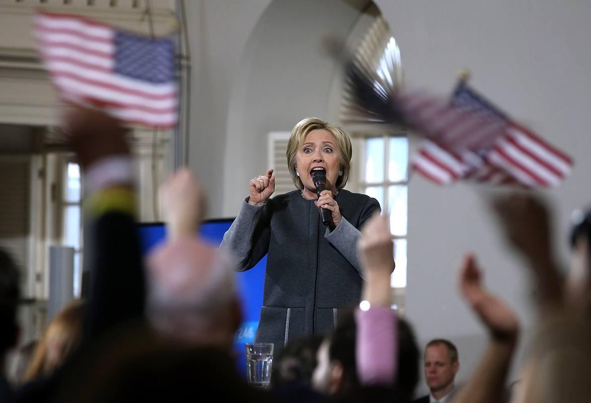Acto electoral de Hillary Clinton en Boston