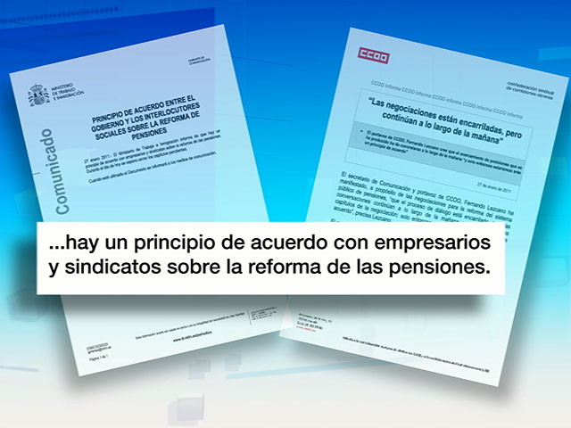 Principio de acuerdo con empresarios y sindicatos sobre la reforma de las pensiones