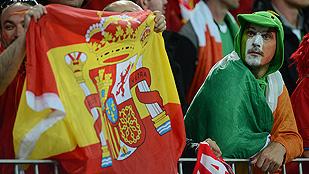 Las aficiones irlandesa y española estuvieron de 10