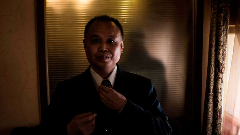 El agobado Yu Wensheng en una imagen de archivo