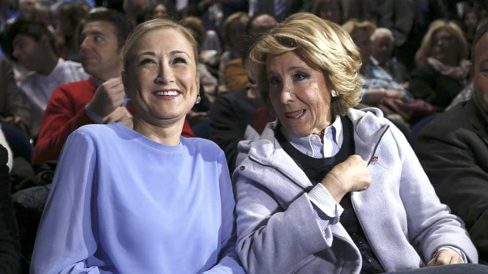 Aguirre y Cristina Cifuentes juntas en su primer acto de precampaña