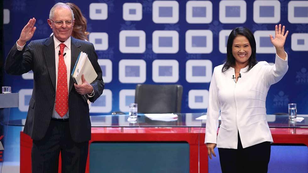 Ajustada segunda vuelta entre Keiko Fujimori y Pablo Kuczynski en la segunda vuelta de las elecciones en Perú