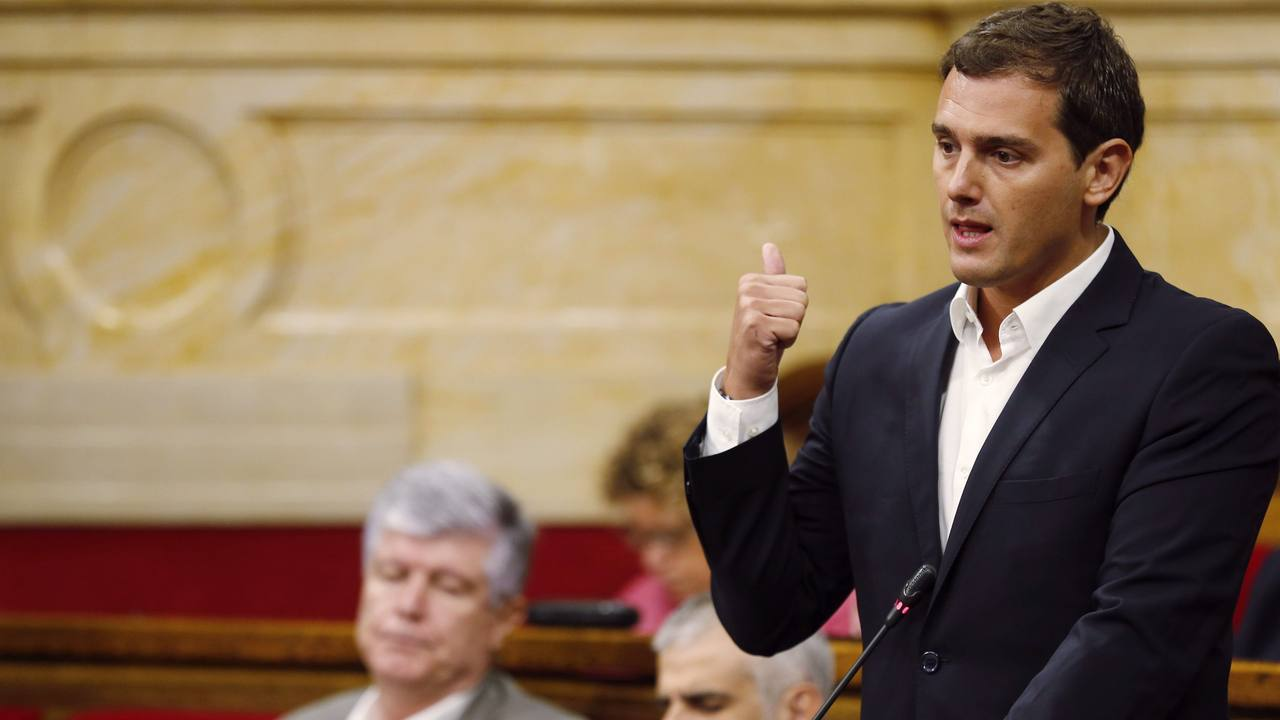 Albert Rivera en el último pleno de la legislatura en el Parlament de Cataluña