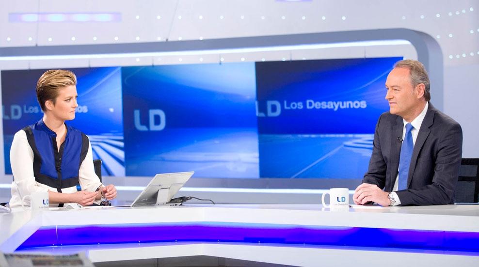 """Alberto Fabra, presidente de la Generalitat Valenciana: """"A quienes piensan que Rita Barberá busca otro destino, que sepan que queda Rita para rato"""""""