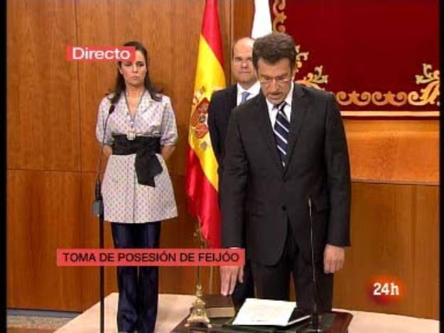Ir al VideoAlberto Núñez Feijóo promete el cargo en Galicia