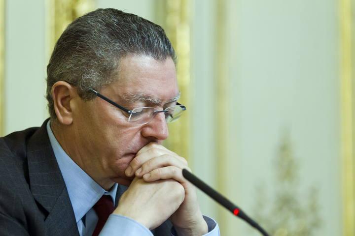 Alberto Ruiz-Gallardón durante un acto