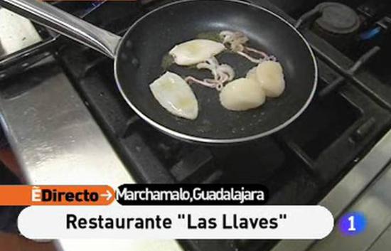 España Directo - Alcachofas con vieiras y chipirones