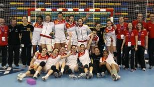 La alegría del balonmano femenino español