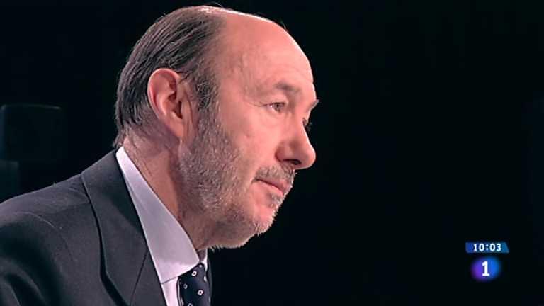 Los desayunos de TVE - Alfredo Pérez Rubalcaba, Secretario general del PSOE