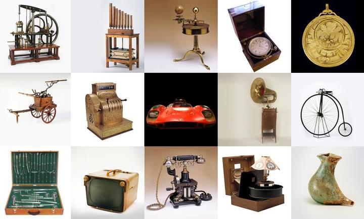Algunos de los objetos que muestra el MUNCYT en su nueva sede.
