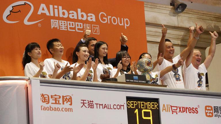Alibaba debuta en Wall Street valorada en 168.000 millones de dólares