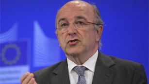 """Almunia destaca que la compra de bonos puede """"operar ya"""" gracias al acuerdo de Bruselas"""