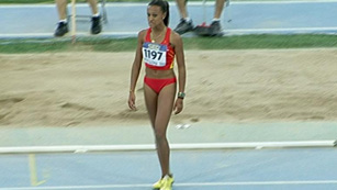 Ana Peleteiro, campeona del mundo júnior de triple salto