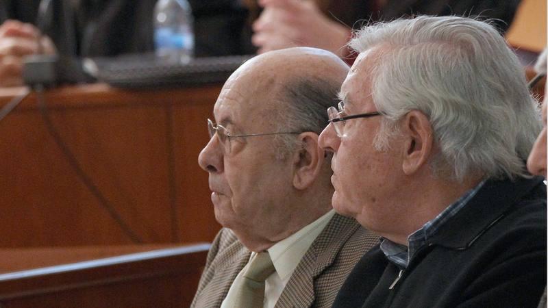 Los antiguos responsables del Palau de la Música de Barcelona, Felix Millet (i) y Jordi Montull