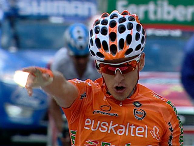 Igor Antón se coloca de líder de la Vuelta