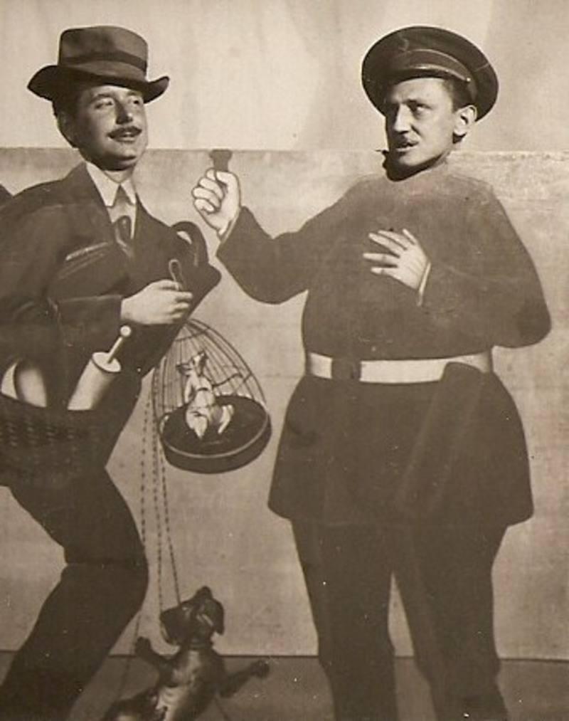 Antonio Buero Vallejo con su amigo Soto en Madrid en 1951