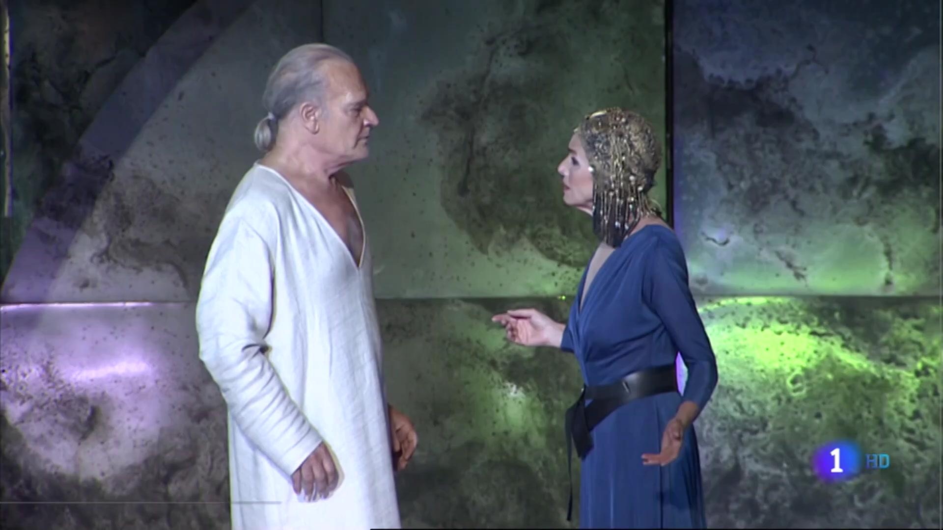 Ir al Video'Antonio y Cleopatra', se estrena esta noche en el Festival de Mérida con Ana Belén y Lluís Homar