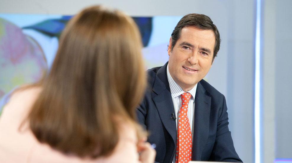 """Antonio Garamendi, presidente de CEPYME: """"La mejor manera de crear empleo es la inversión, la moderación salarial lleva a la creación de empleo"""""""