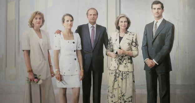 Antonio López, Retrato de la familia de Juan Carlos I