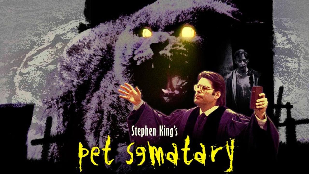 Anuncio de 'Cementerio de animales' en el que aparece el propio King