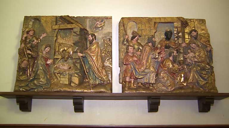 Aparecen los retablos robados en Amusco dos décadas después