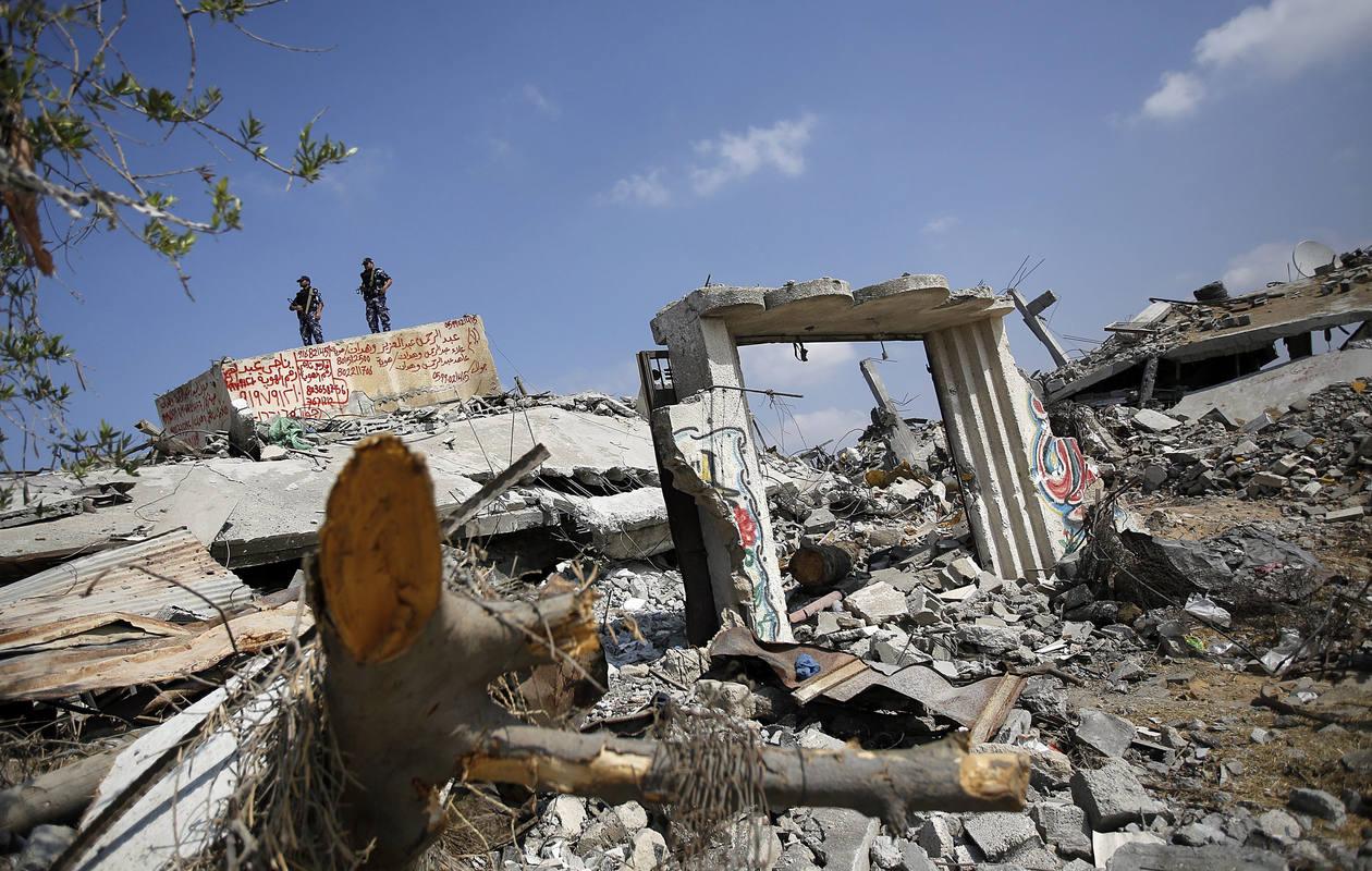 Un área de Beit Hanún, arrasada tras un bombardeo israelí en la guerra de Gaza del pasado verano.