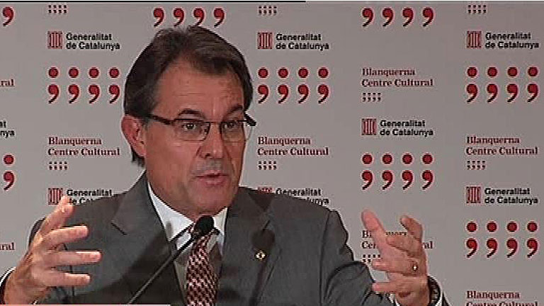 """Artur Mas: """"Rajoy me ha dicho con toda claridad que no ve recorrido en el pacto fiscal"""""""
