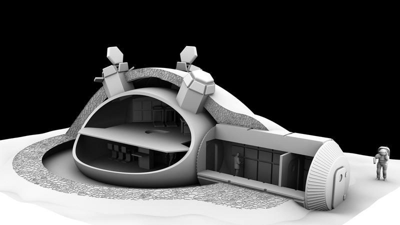 Así sería la base lunar ideada por la ESA.