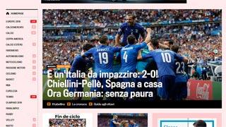 Así ve la prensa digital la derrota de España ante Italia