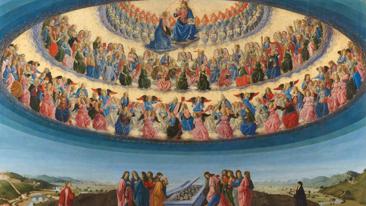 'La asunción de la Vírgen' (1475-76).Francesco Botticini.