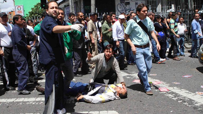 Un atentado en la capital colombiana deja al menos dos muertos y 30 heridos