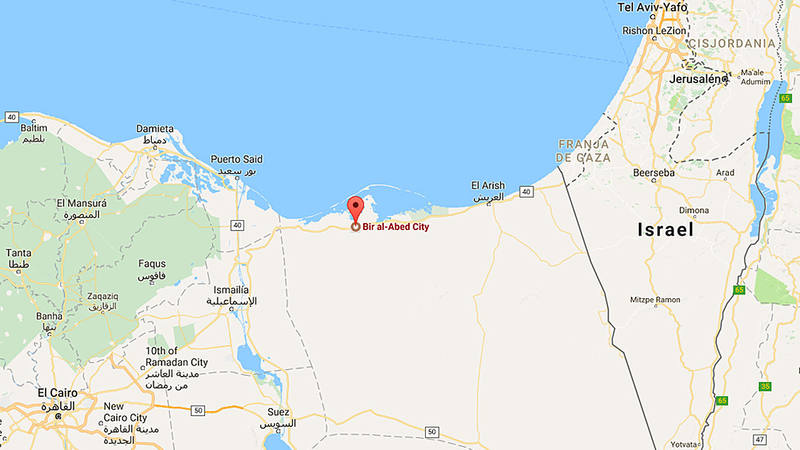El atentado ha ocurrido en la localidad de Bir al Abed, al oeste de ciudad de Arish, capital del norte del Sinaí.