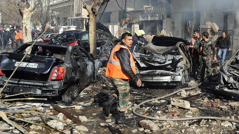Doble atentado contra edificios de seguridad en Damasco