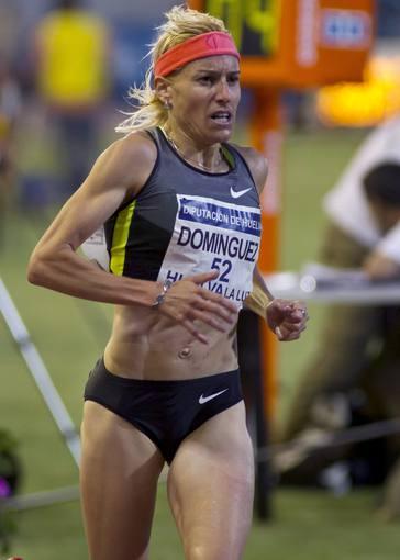 La atleta palentina Marta Domínguez en Huelva, donde ha disputado su última prueba.