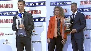 El Atlético y Cristiano, los mejores de la pasada Liga